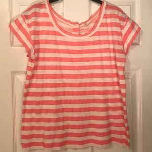 J.Crew Short Sleeve Striped Button Back T-Shirt